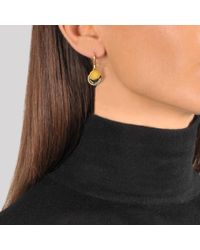 Marc Jacobs | Black Enamel Logo Disc Earrings | Lyst