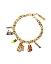 Marc Jacobs | Metallic Toast My Heart Charm Bracelet | Lyst