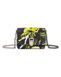 Proenza Schouler | Yellow Extra Small Courier-floral Print On Satin Crepe | Lyst