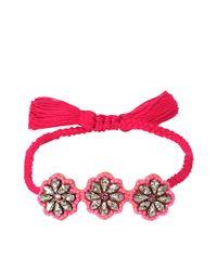 Shourouk | Multicolor Flower Bracelet | Lyst