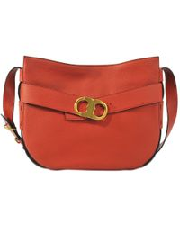 Tory Burch | Red Gemini Belted Hobo | Lyst