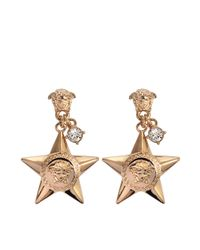 Versace - Gray Stars Earrings - Lyst