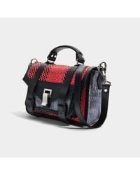 Proenza Schouler - Multicolor Ps1+ Tiny Bag In Red And Blue Mixed Woven - Lyst