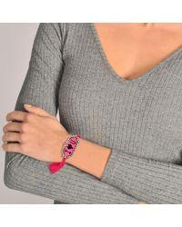 Shourouk - Pink I Love You Bracelet - Lyst