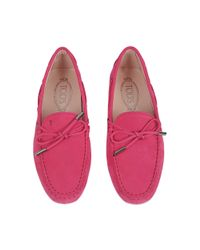 Tod's - Pink Heaven Driving Loafers - Lyst