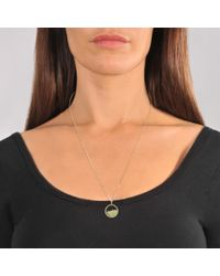 Aurelie Bidermann - Metallic Yellow Gold And Sapphire Glass Baby Medaillon With Peridot - Lyst
