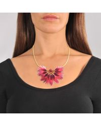 Gas Bijoux - Pink Gaia Feather Necklace - Lyst