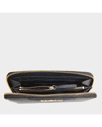 Karl Lagerfeld - Gray Klassik Zip Around Wallet - Lyst