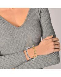 Charlotte Chesnais - Metallic Initial Chain Bracelet In Yellow Vermeil - Lyst