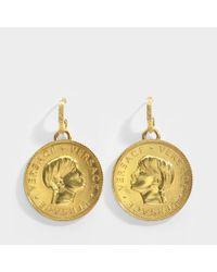 Versace - Metallic Donatella Earrings - Lyst