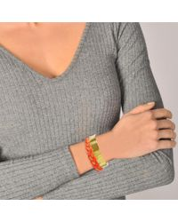 Aurelie Bidermann - Multicolor Copacabana Bracelet In Geranium 18k Gold-plated Brass - Lyst