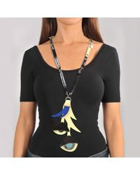 Marni - Multicolor Necklace With Flower - Lyst