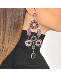 Marc Jacobs - Multicolor Jeweled Statement Earrings In Pink - Lyst