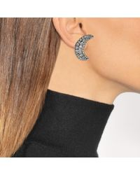 Helene Zubeldia - Multicolor Asymmetrical Crystal Star And Moon Earrings - Lyst