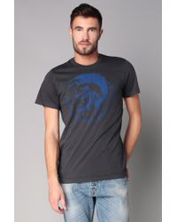 DIESEL | Gray T-shirt for Men | Lyst