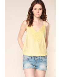 Vila | Yellow Top | Lyst