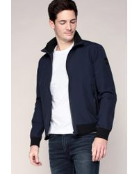 Calvin Klein | Blue Bomber Jacket for Men | Lyst