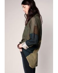 Free People | Green Oversized Blouses | Lyst