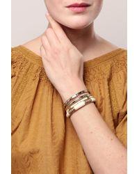 Pieces - White Bracelet - Lyst