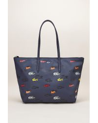 Lacoste - Blue Tote Bags - Lyst