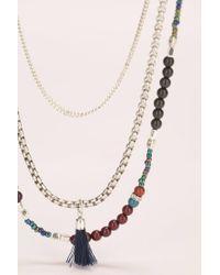 IKKS - Gray Necklace / Longcollar - Lyst