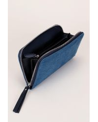 Pieces - Blue Wallet And Coin Purse - Lyst