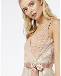 Monsoon - Natural Rosie Sequin Tulle Maxi Dress - Lyst
