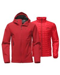 The North Face - Red Thermoball Triclimate Jacket for Men - Lyst