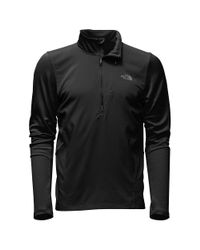 The North Face - Black Isotherm 1/2 Zip Top for Men - Lyst