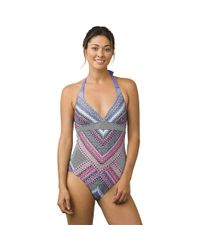 Prana - Blue Lahari One Piece Swimsuit - Lyst