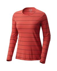 Mountain Hardwear - Red Everyday Perfect Ls Crew Top - Lyst