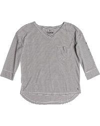 Roxy - Gray Desert Is Calling 3/4 Sleeve Top - Lyst