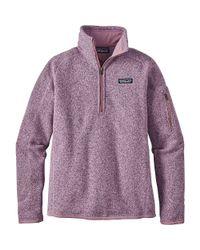 Patagonia - Purple Better Sweater 1/4 Zip - Lyst