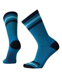 Smartwool - Blue Striped Hike Light Crew Sock - Lyst