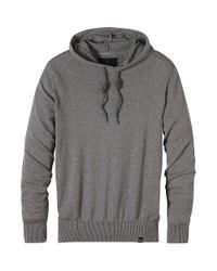 Prana - Gray Throw On Hooded Sweater for Men - Lyst