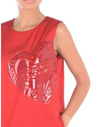 Love Moschino - Red Short Dress - Lyst