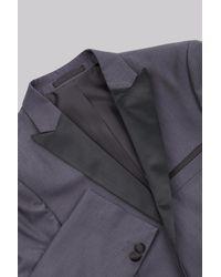 Moss London - Gray Skinny Fit Grey Tuxedo Jacket for Men - Lyst