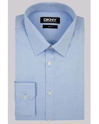 DKNY | Slim Fit Sky Blue Single Cuff Pointed Collar Shirt for Men | Lyst