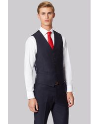 Hardy Amies | Blue Tailored Fit Navy Clear Cut Waistcoat for Men | Lyst