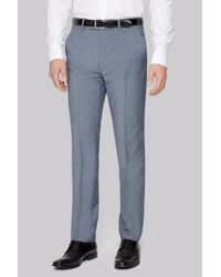 Ted Baker | Tailored Fit Light Blue Trousers for Men | Lyst