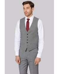 Ted Baker | Metallic Gold Tailored Fit Neutral Birdseye Waistcoat for Men | Lyst