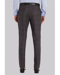 Ted Baker - Gray Tailored Fit Grey Check Trousers for Men - Lyst