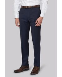 DKNY - Blue Slim Fit Ink Twill Trousers for Men - Lyst