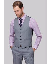Moss Esq. - Regular Fit Black & White Birdseye Waistcoat for Men - Lyst