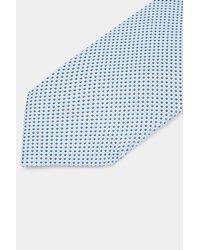 HUGO - Hugo Boss Blue Diamond Tie for Men - Lyst