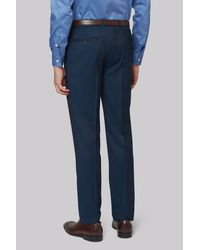 DKNY Blue Slim Fit Teal Twill Trousers for men