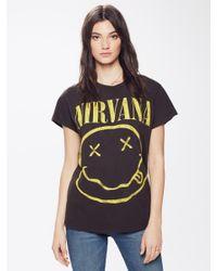 MadeWorn - Nirvana Crew Tee Faded Black - Lyst