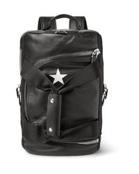 Givenchy Black Webbing-trimmed Leather Backpack for men