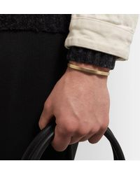 Miansai - Metallic Singular Brushed-brass Cuff for Men - Lyst