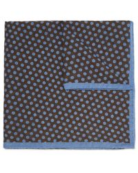 Anderson & Sheppard - Brown Polka-dot Wool Pocket Square for Men - Lyst